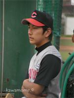 先発湯川投手、オトコマエ。