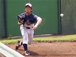 ブルペンの高田投手