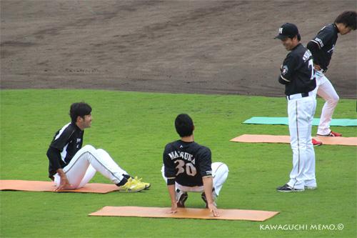 矢貫投手・松家投手・島崎コーチ